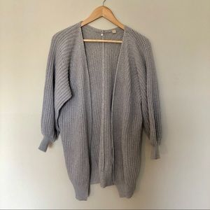 Anthropologie Knitted and Knotted Chunky Cardigan